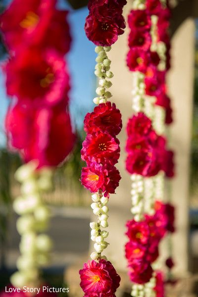 Photo Floral And Decor Indian Wedding Flowers Flower Decorations Red Wedding Flowers