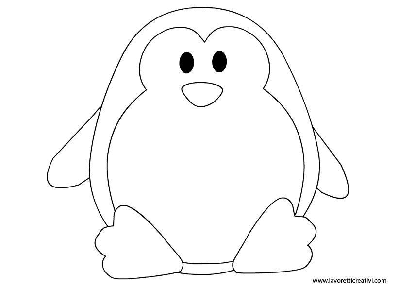 Addobbi Invernali Sagoma Pinguino Patterns Kindergarten Crafts