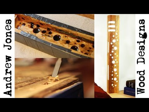 How I made a reclaimed wood and resin LED lamp - YouTube
