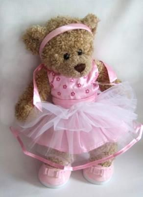 c134dabca18 Build your Bears Wardrobe trade teddy bear clothes Pink Party Dress  Headband Outfit is a compatible fit for 14-16 build a bear Pink Satin Net  Dress