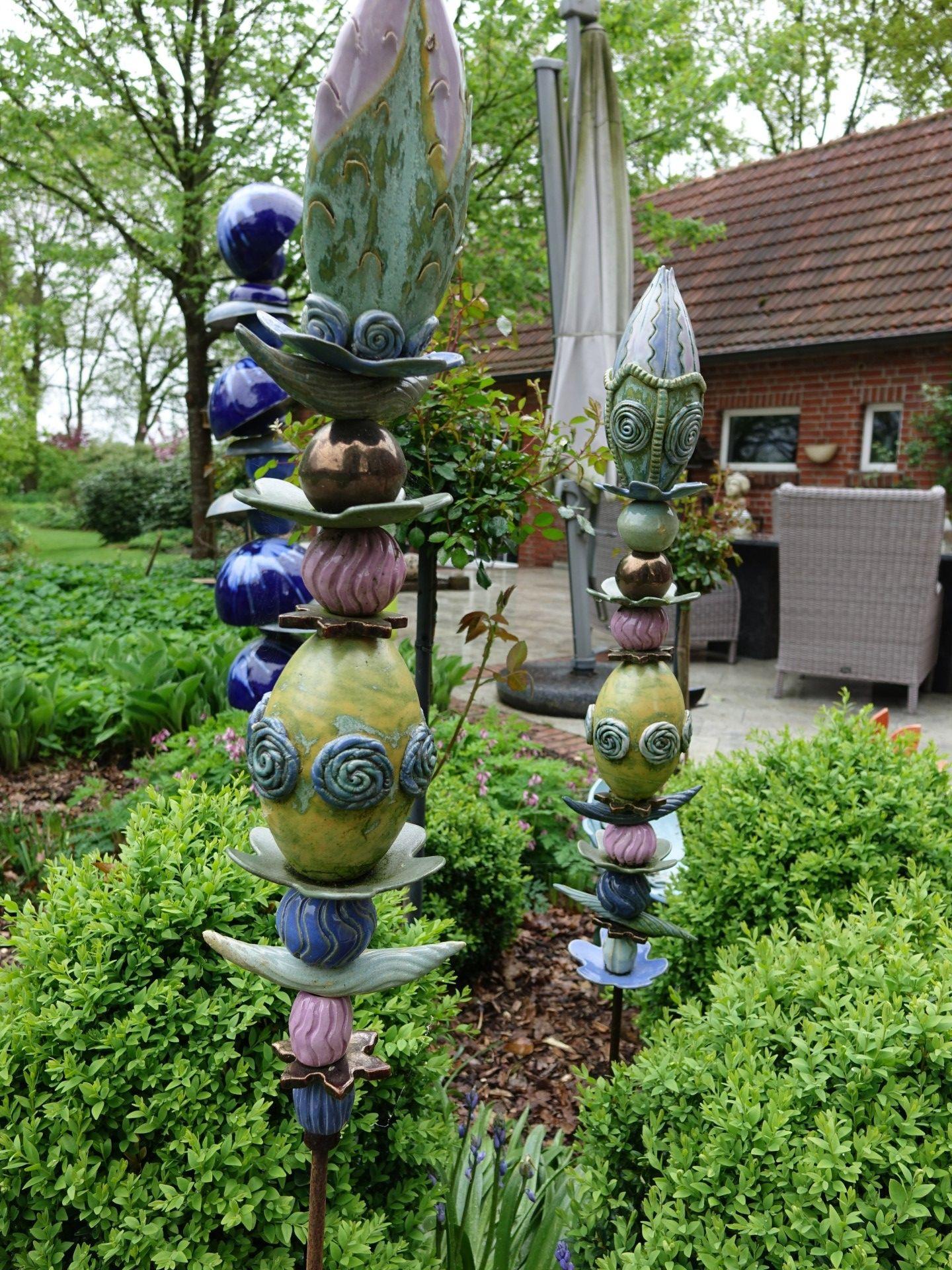 Gartenkunst Ginie Koolen Gartenkunst Keramikteekannen Gartenskulptur