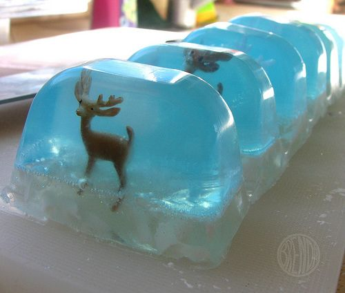 DIY- how to make Snow Globe Soap~ great gift idea~