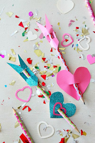 valentines day cupids arrow pencil toppers valentine s day rh pinterest com