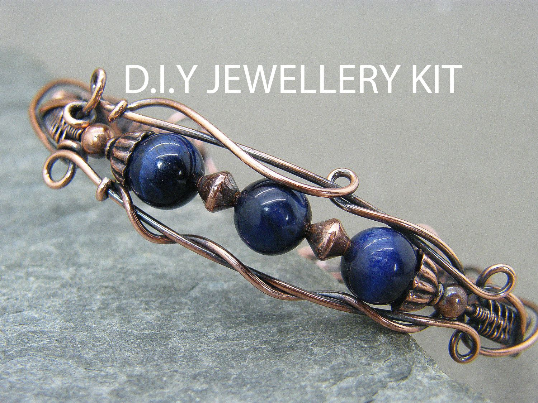Wire wrapped jewellery tutorial ~ jewellery making kit ~ Handmade ...