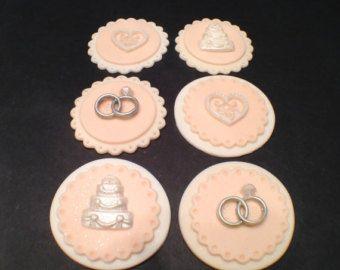 Fondant Wedding Cupcakes Toppers Wedding Favors Bridal Shower Cupcakes Toppers Wedding Cupcake Toppers Bridal Shower Cupcakes Toppers Bridal Shower Cupcakes