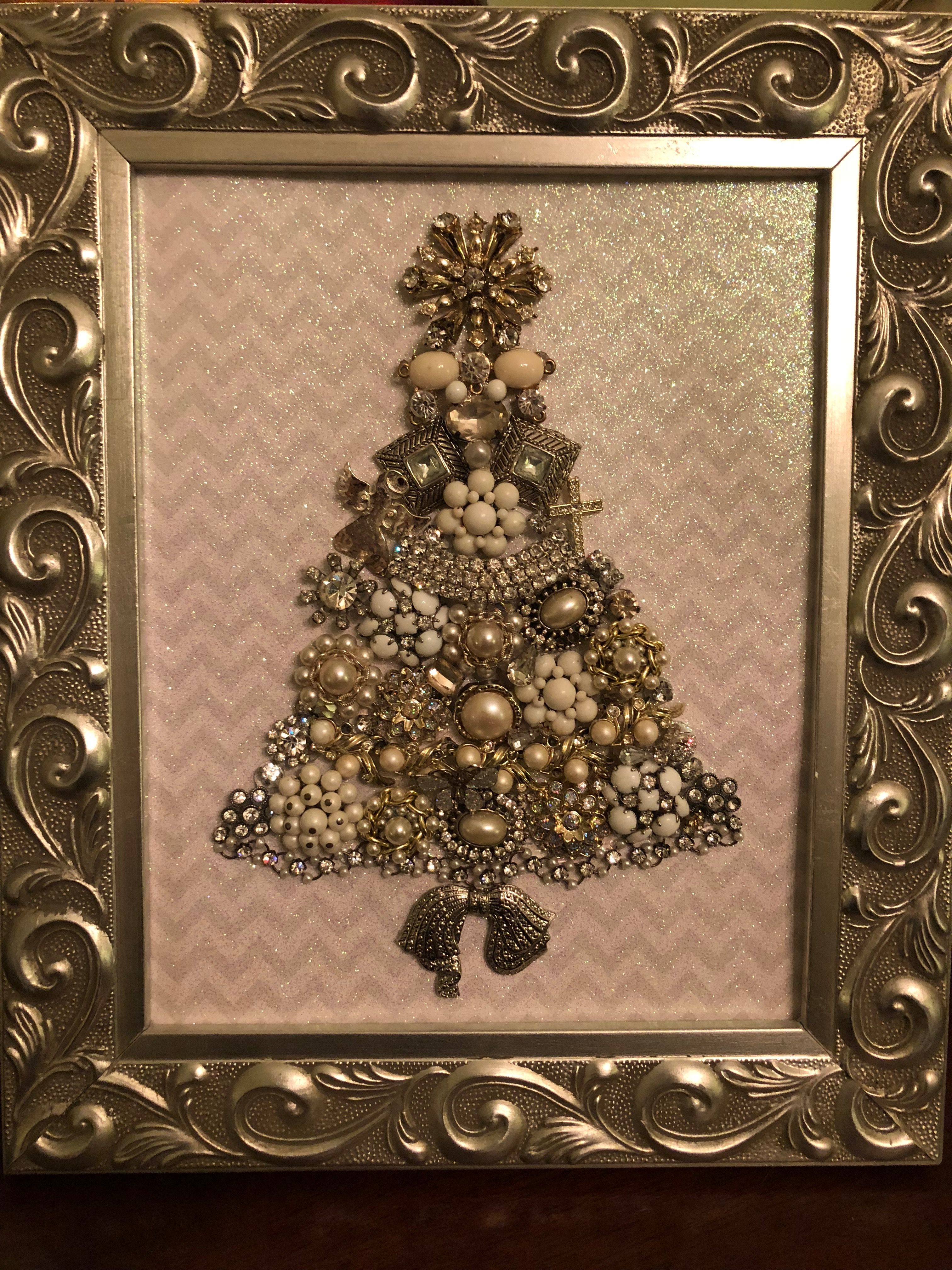 Made This Stunning Piece Ornate Silver Wooden Framed Vintage