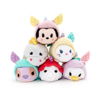 Tsum Tsum Soft Toys, Mickey Mouse, Minnie Mouse, Winnie the Pooh and Eeyore in an Easter basket by Disney