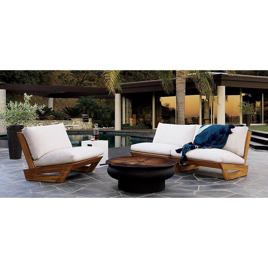 Sunset Teak Lounge Chair Reviews Sala De Estar De Apartamento