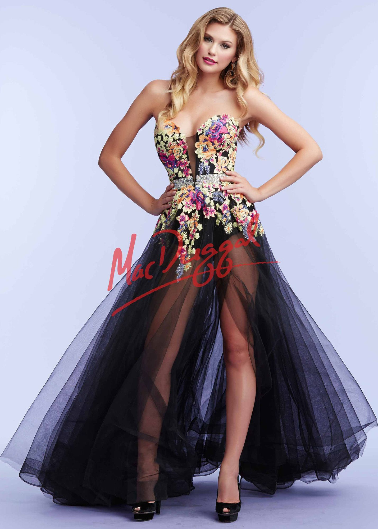 30fe0afd921 Mac Duggal 85441 Floral Hot Shorts Gown available at RissyRoos.com ...