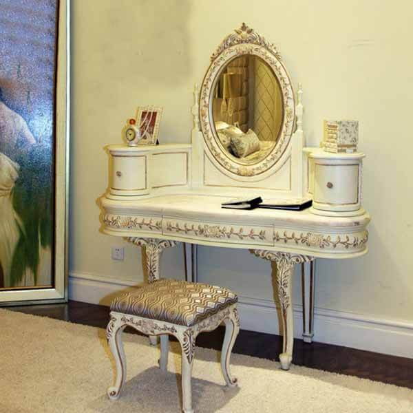 Custom White Dresser Table With Mirror 1132 in 2020 (With