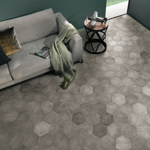 Piastrelle gres porcellanato esagonali home pinterest for Tendenze pavimenti 2017