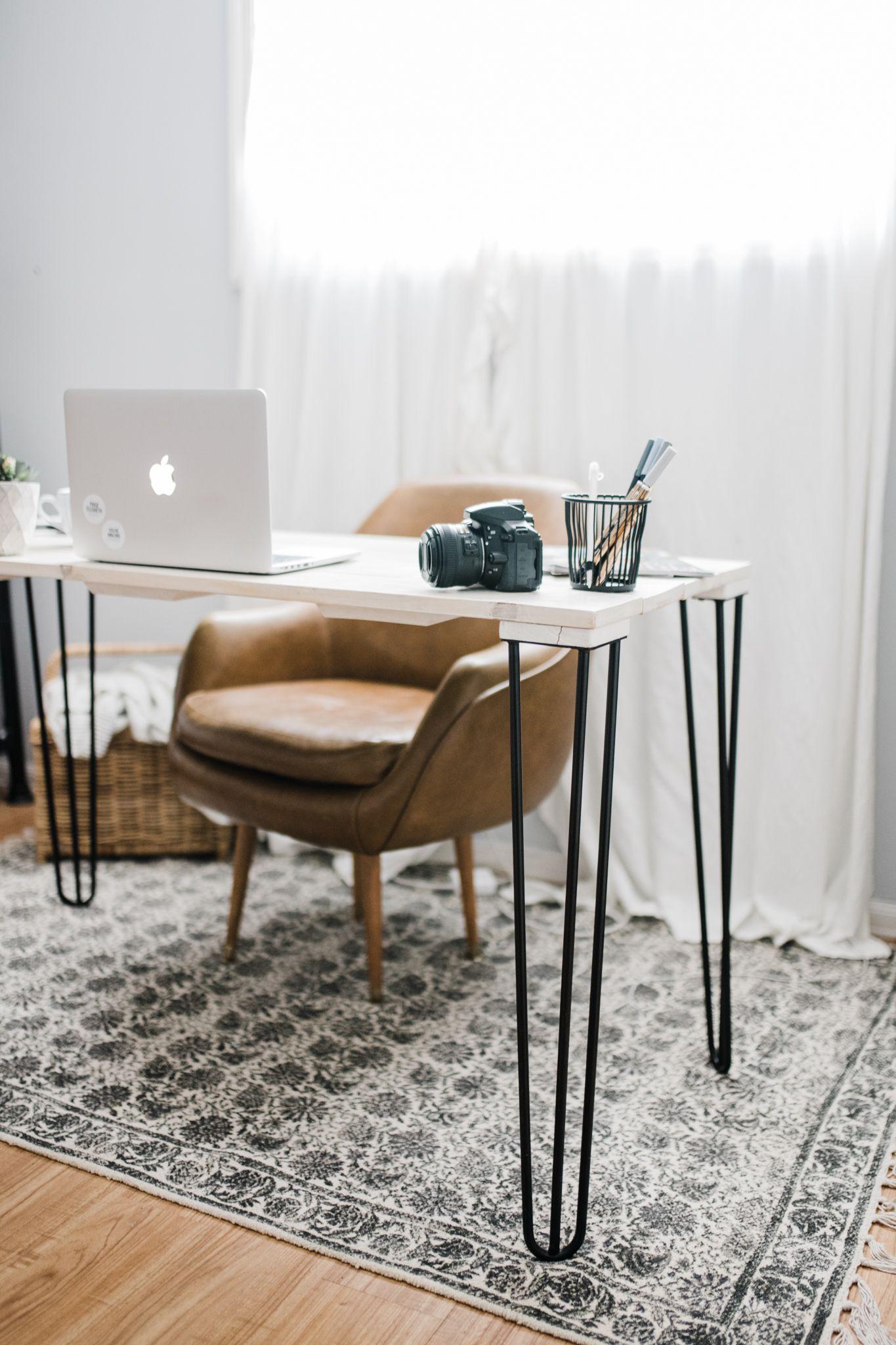 modern farmhouse industrial home office inspo inspiration leather rh pinterest com