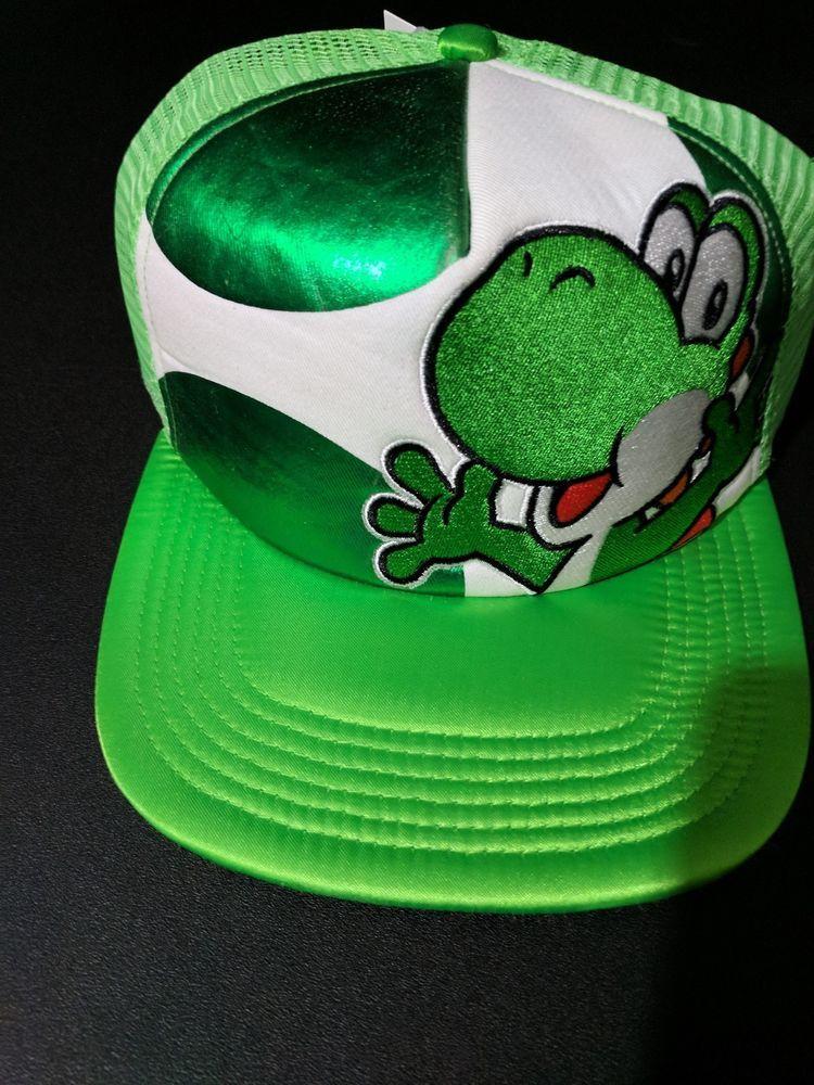 3f31a70367f3e Super Mario Brothers Official Nintendo Green Yoshi hat baseball cap NWT   Nintendo  BaseballCap