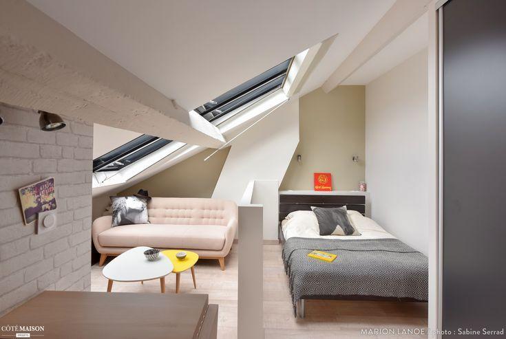 Studio Sous Les Toits Avec Chambre Et Salon Separes Par Un Muret