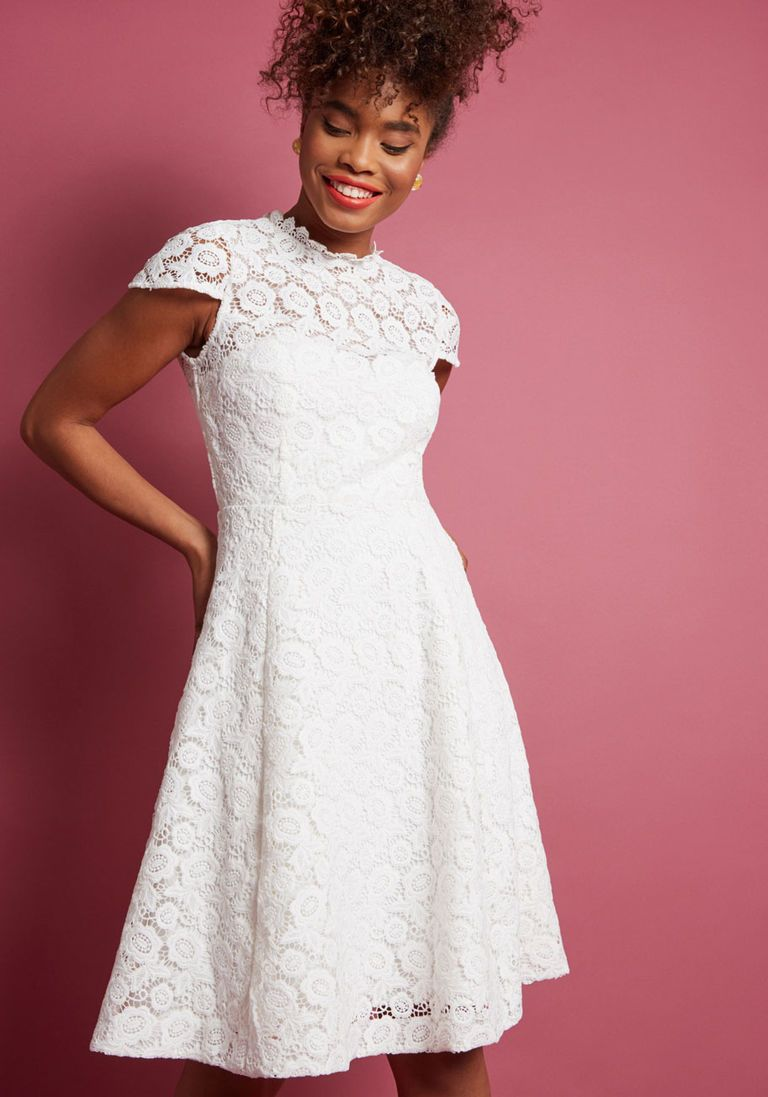 Happily ever laughter lace aline dress in white products
