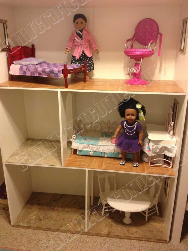 american girl dollhouse diy for 150 18 doll room furniture free rh pinterest com