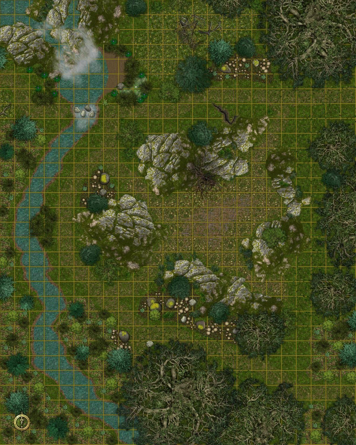 Forest Dnd Map : forest, Dundjinni, Mapping, Software, Forums:, Rocky, Forest, Tabletop, Maps,, Fantasy