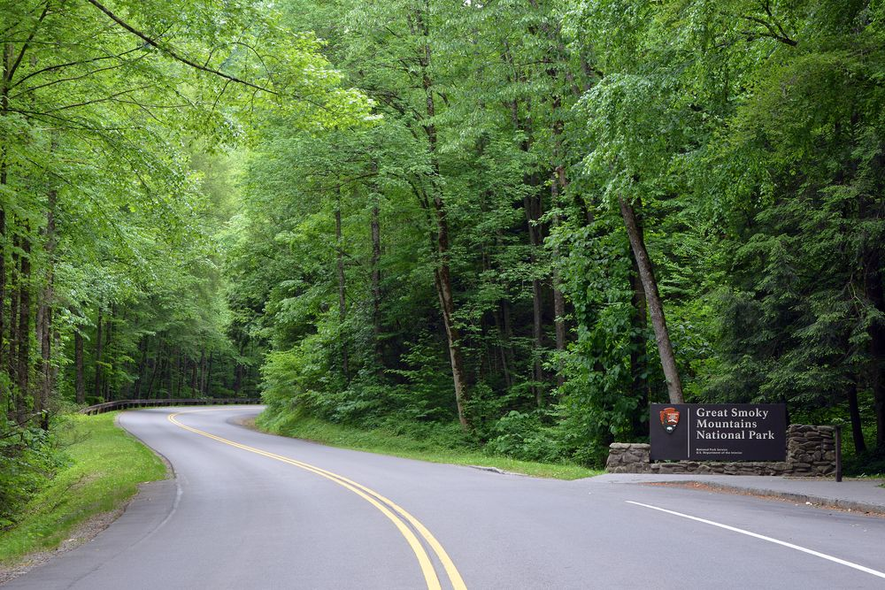 the great smoky mountains national park sign we love seeing this rh pinterest com
