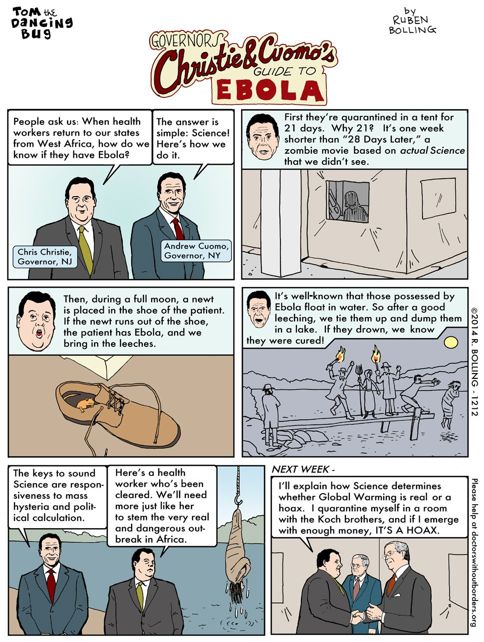 Christie And Cuomo S Guide To Ebola Comic Strips Christy Comics