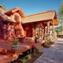Log Home Exterior ~ Beautiful Log Homes