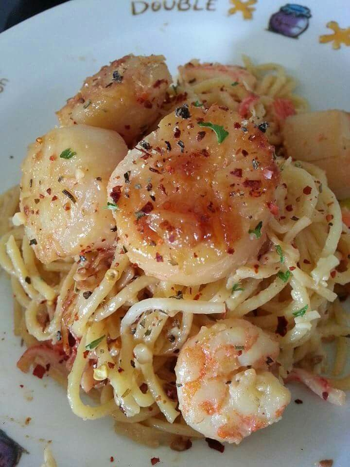 Cream Scallop Pasta The Cream Sauce Recipe Is Really Easy You Only Need 200ml Emborg