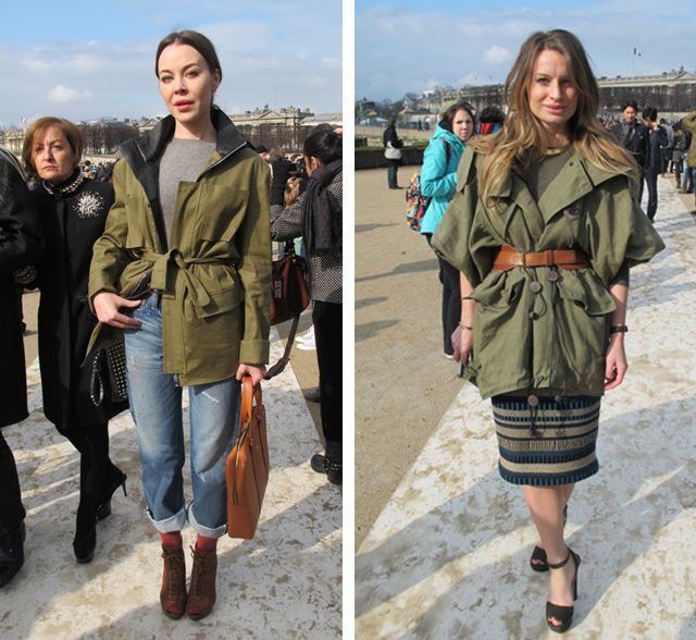 Parka in Paris Fashion Week | Outwear | Pinterest | Fashion weeks ...