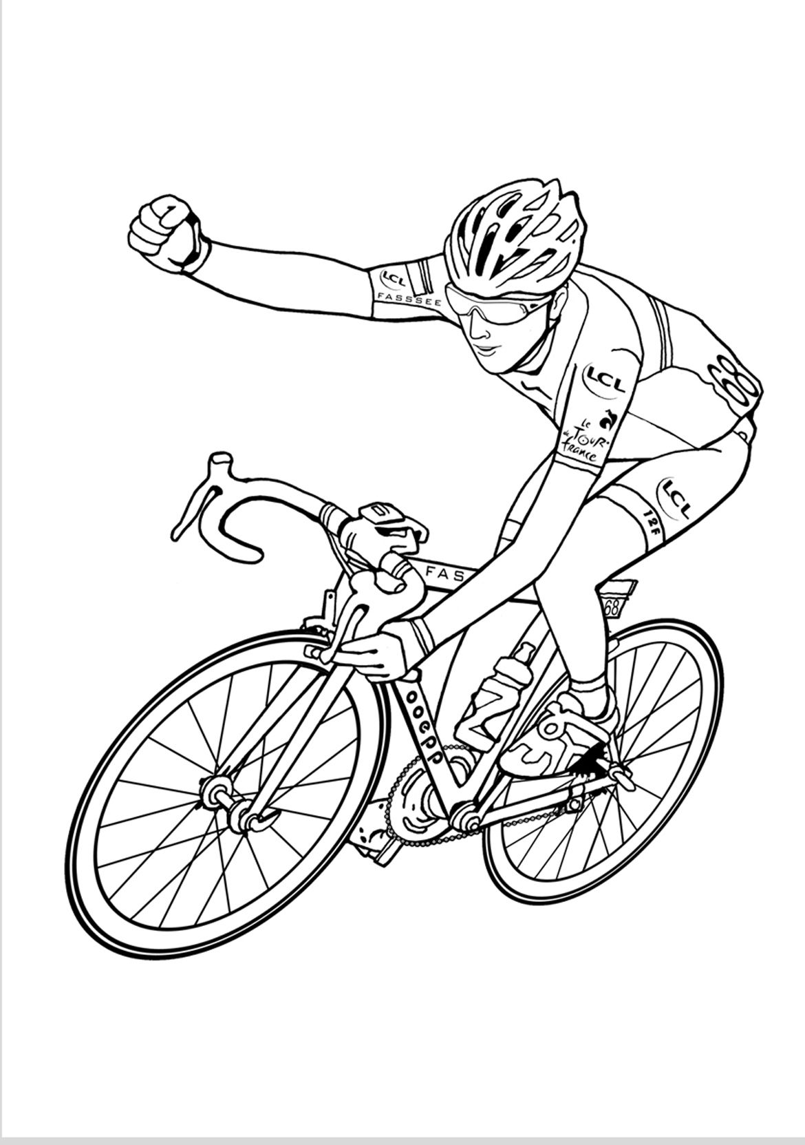 france coloring pages for girls | Pin by The Fridays' Art on Tour de France. Colouring book ...