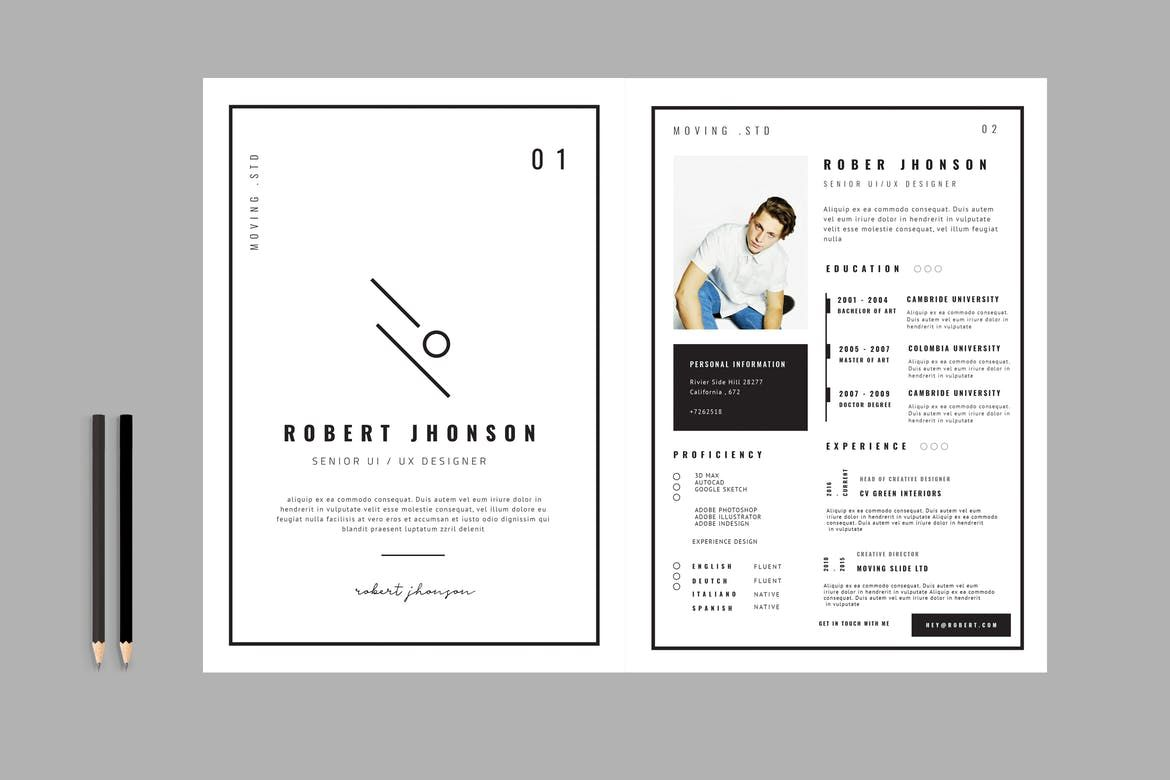 Resume / CV Template by TMint on Resume design template