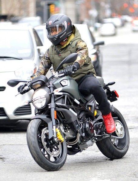 Usher in Usher Cruises on His Ducati Bike