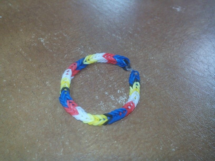 Loom Rubber Band made by my six yrs old daughter :)