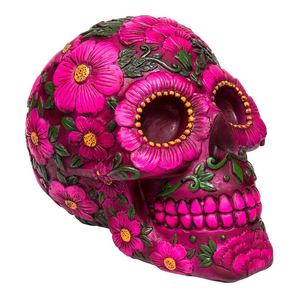 Nemesis Now Sugar Skull Blossom Moneybox (Multicoloured)