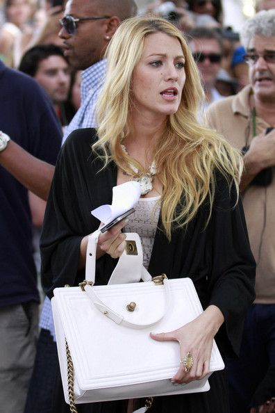 92c3436987bf Blake Lively and her Boy Chanel bag.   Animated   Pinterest   Chanel ...
