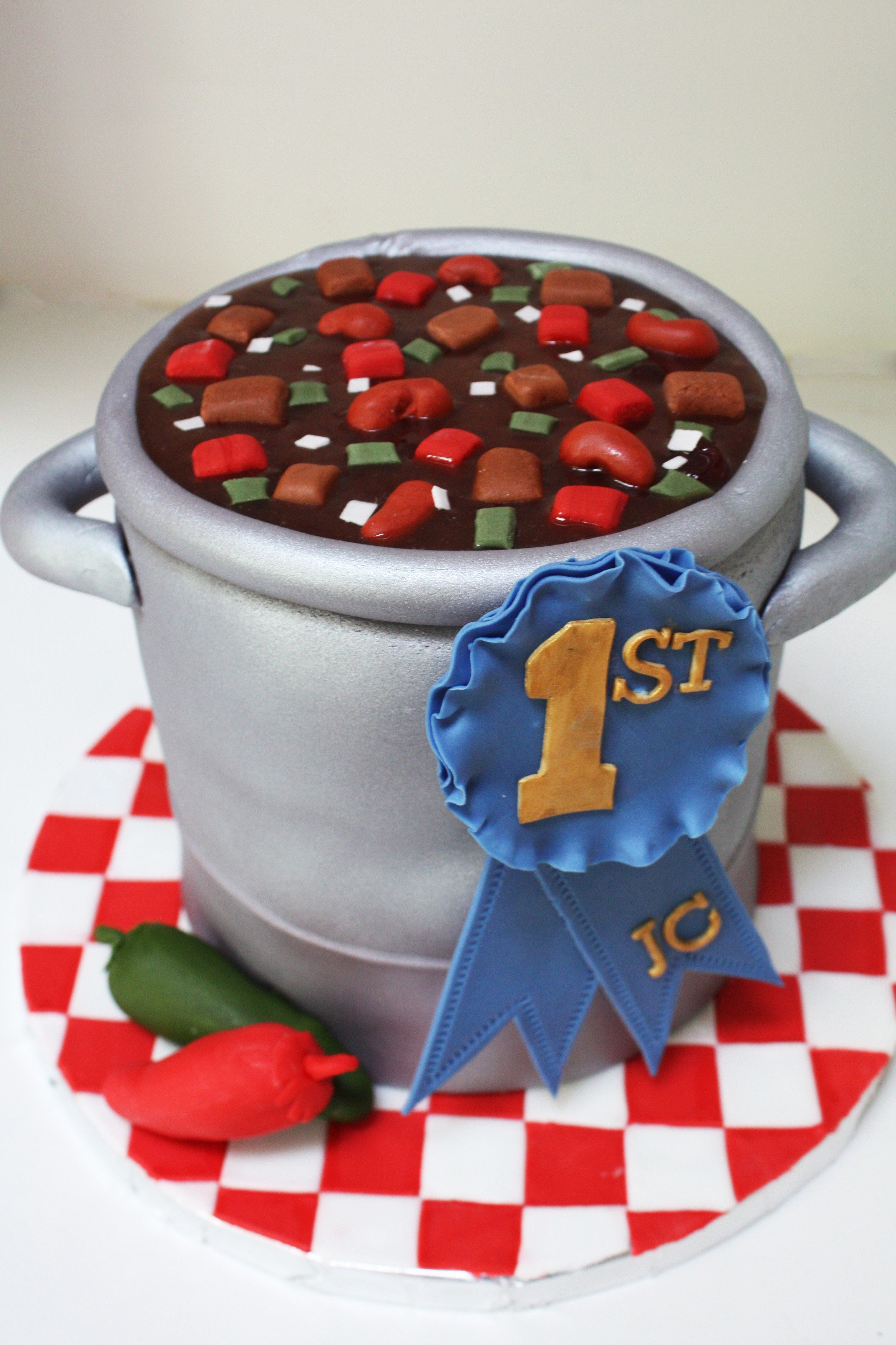 Chili Cook Off First Place Pot Of Cake
