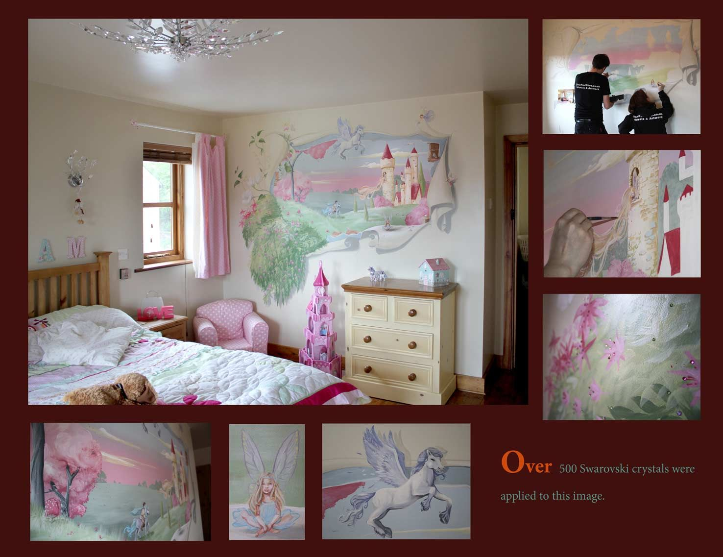 Peel back the walls to reveal a fairytale castle Murals by