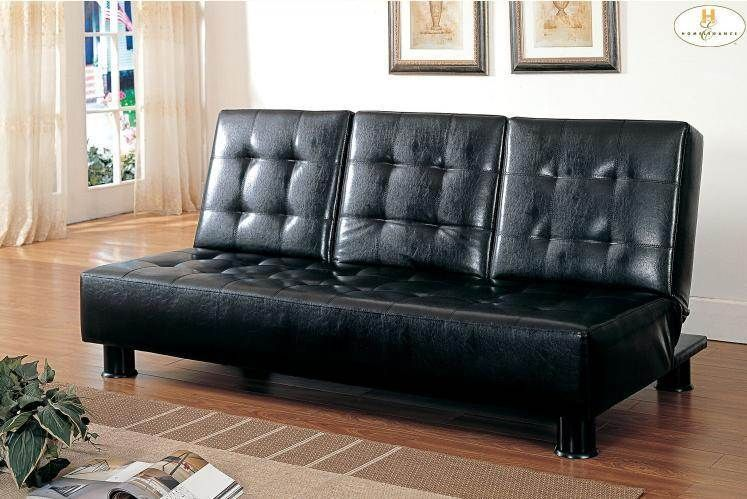 Peachy Olivia Tess Black Wood Vinyl Elegant Lounger Futons Uwap Interior Chair Design Uwaporg
