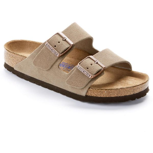 Birkenstock Arizona Suede Sandals (6,300 PHP) ❤ liked on Polyvore featuring shoes, sandals, women, birkenstock sandals, suede leather shoes, birkenstock footwear, birkenstock shoes and suede shoes