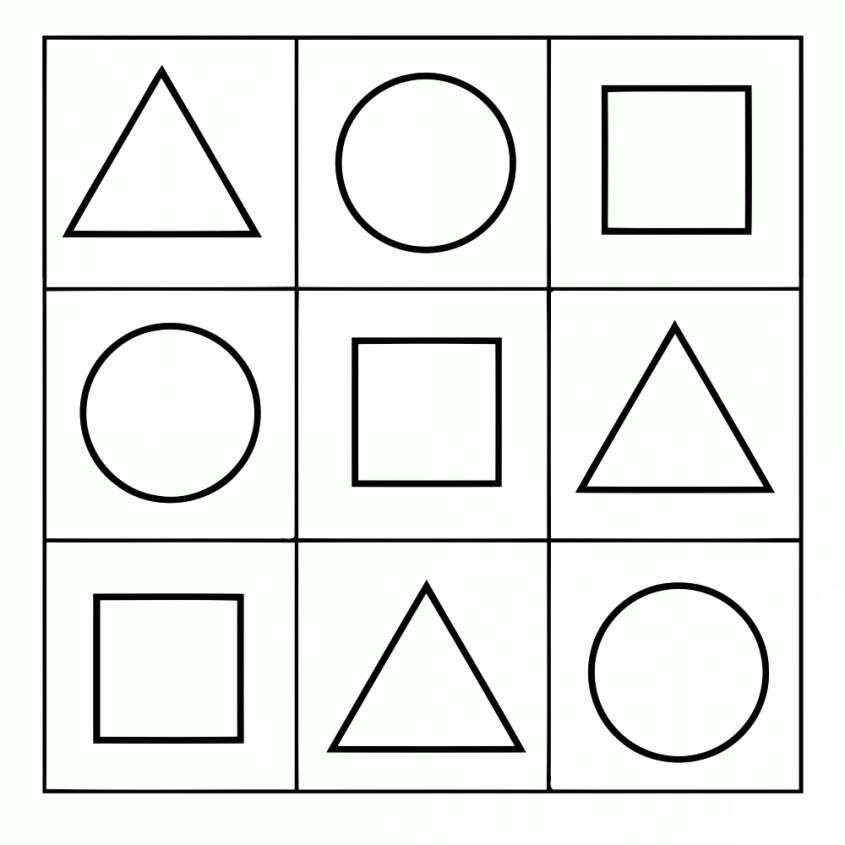 Disegni Geometrici Per Bambini Da Colorare Disegni Da Colorare Bambini Da Colorare Disegni Geometrici Immagini Pecs