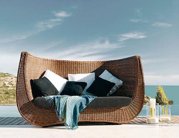 Gartenbett rattan  madeira Rattan Gartenbett Expormin relaxen sommer | WOHNEN ...