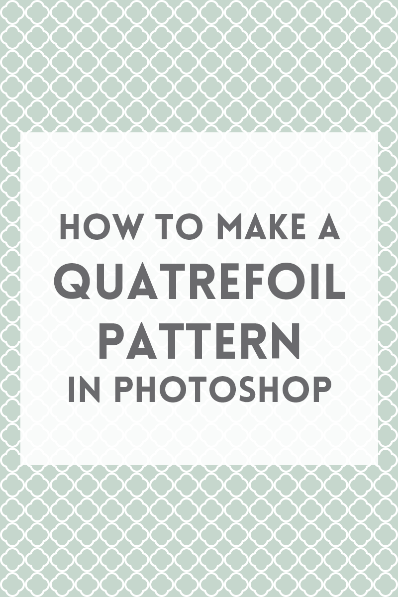 Create a quatrefoil pattern in photoshop quatrefoil adobe create a quatrefoil pattern in photoshop learn photoshopphotoshop tutorialadobe baditri Choice Image