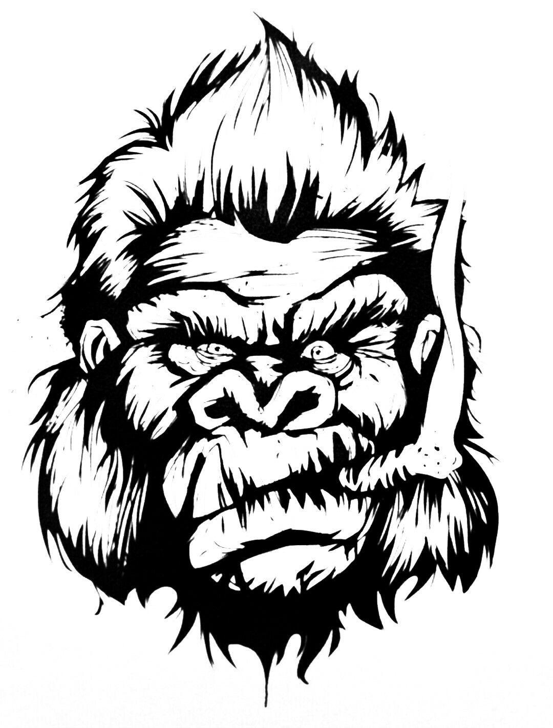 Gorilla Face In