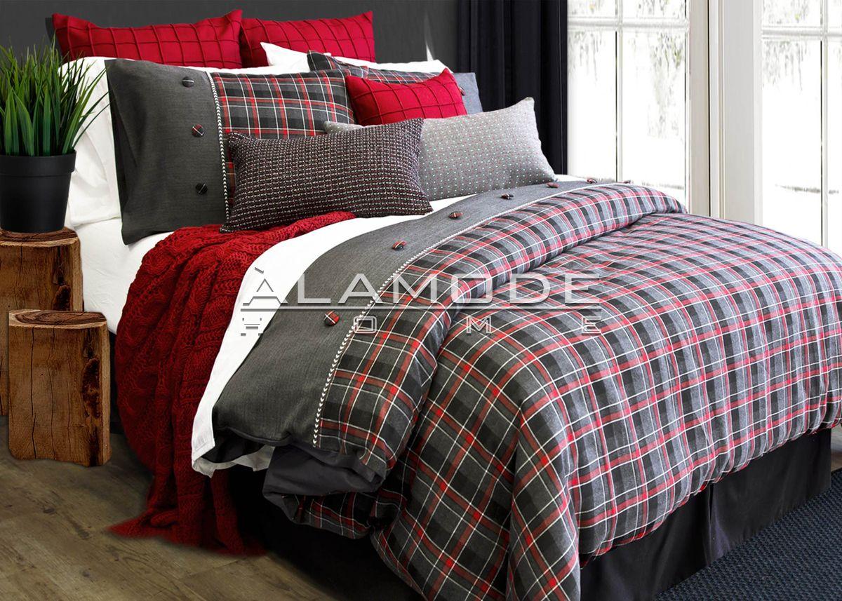 yorkshire chambre des maitres housse de couette rouge chambre et chambre rouge et gris. Black Bedroom Furniture Sets. Home Design Ideas