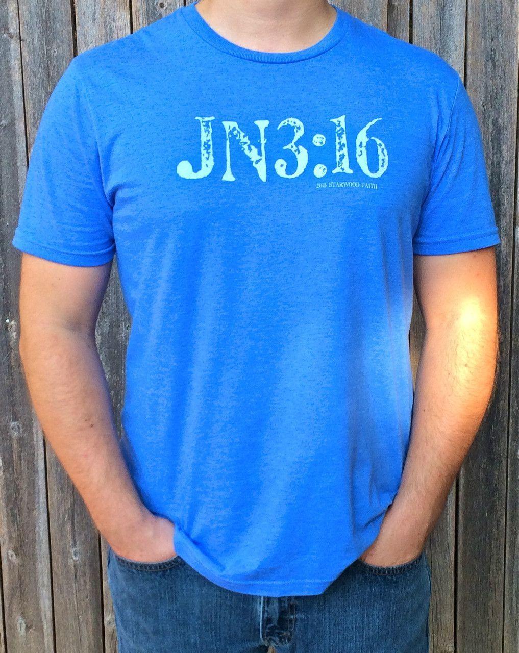 Men's JN3:16 Tee - Blue
