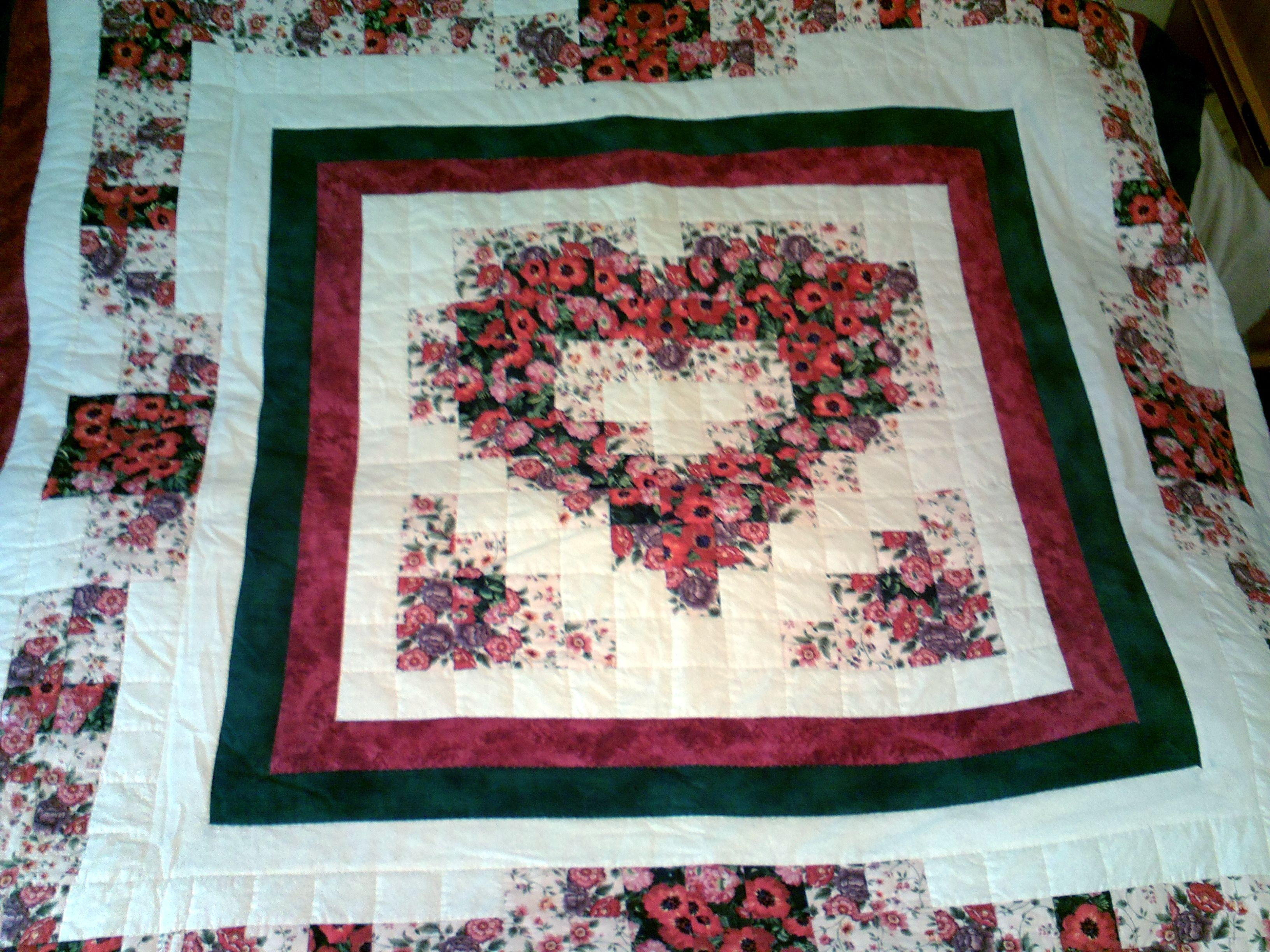 Watercolor Quilt I Did Heart Quilt Pattern Watercolor Quilt