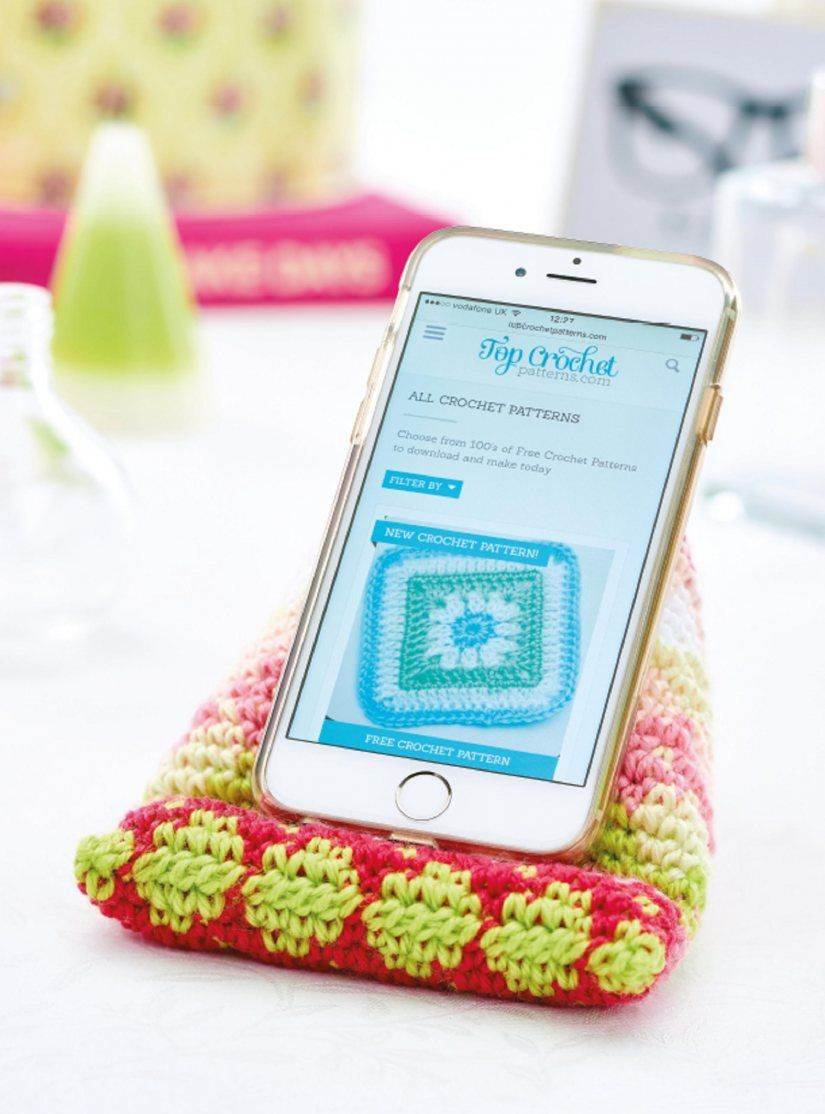 Free Pattern Crochet Phone Stand Crochet Phone Cover Crochet