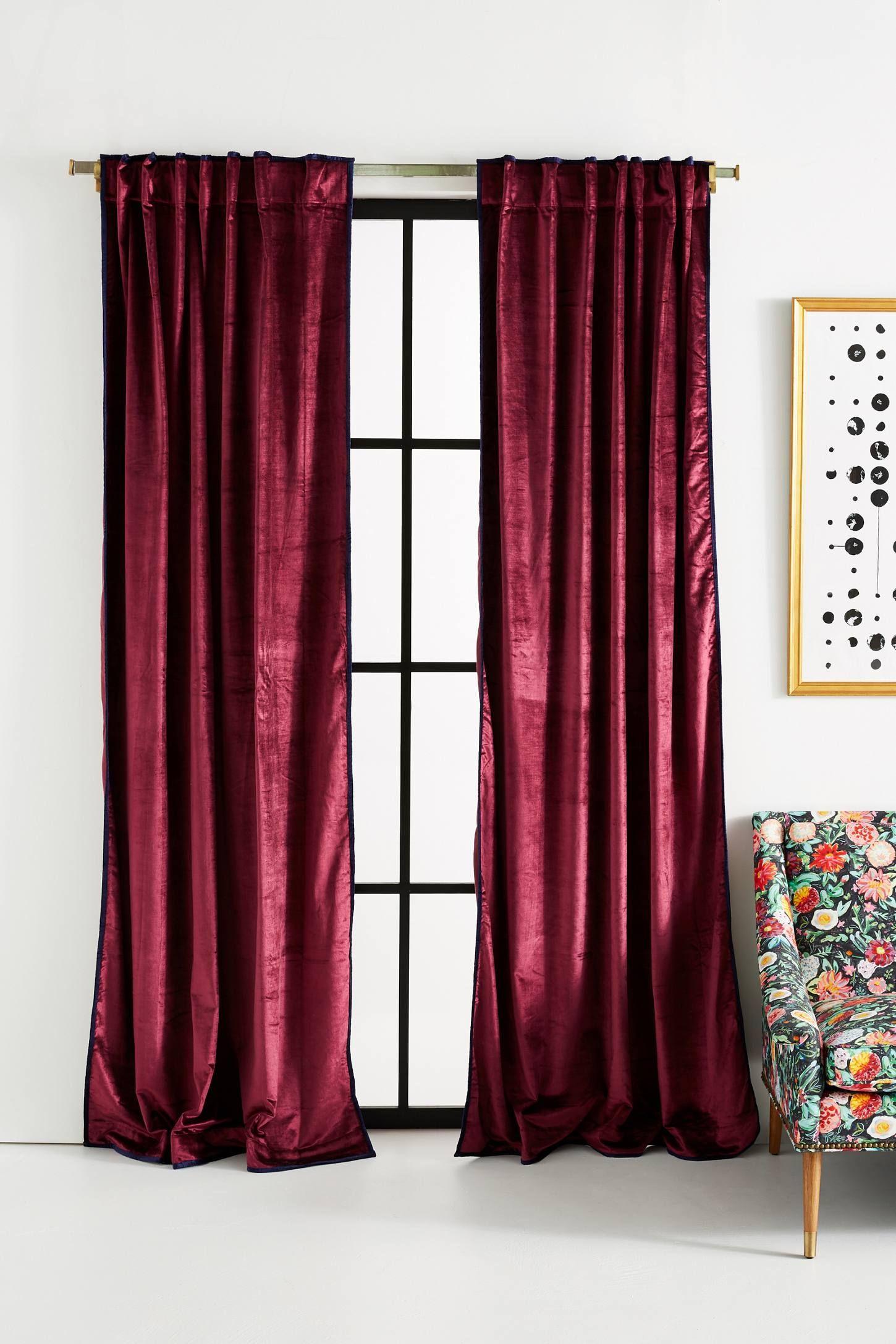 Petra Velvet Curtain In 2019 Red Velvet Curtains