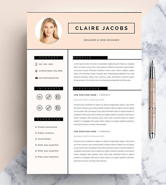 Creative Resume Template Cv Template Instant Download  Creative