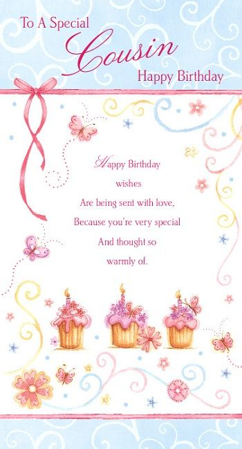 To My Sweet Cousin Happy Birthday Wishes Card Happy Birthday Happy Birthday Wishes For A Cousin