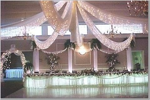 Tulle Ceiling Decorations | Does anyone have pictures of reception ...