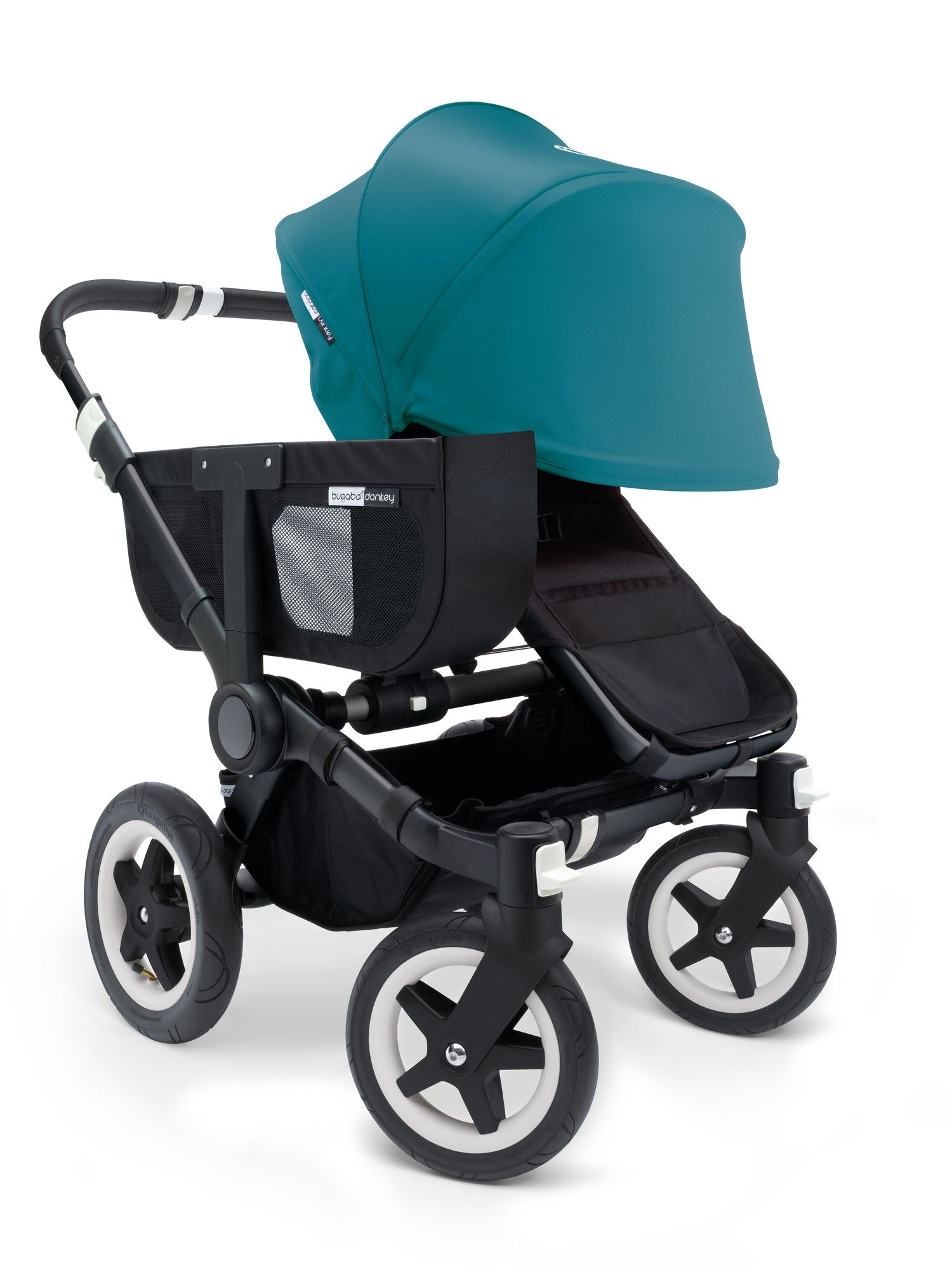 Bugaboo Donkey Mono Stroller Black Chassis With Leather Look Handles ...