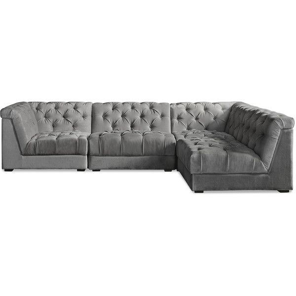 Sofa Pillows Jonathan Adler Ultra L Shaped Sectional Sofa CAD liked on Polyvore featuring